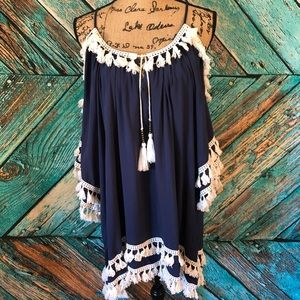 Surf gypsy tassel dress/coverup